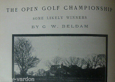 Open Golf Championship Sandwich Old Antique Photo Article 1904 Vardon Beldam