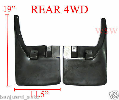 PAIR REAR MUD FLAPS MUDGUARDS FOR NISSAN NAVARA D40 05-15 06 07 4x4 4WD FRONTIER