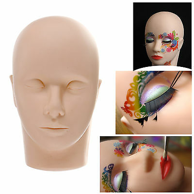 Practice Flat Mannequin Training Head Aid for Eyelash Extensions Makeup Massage