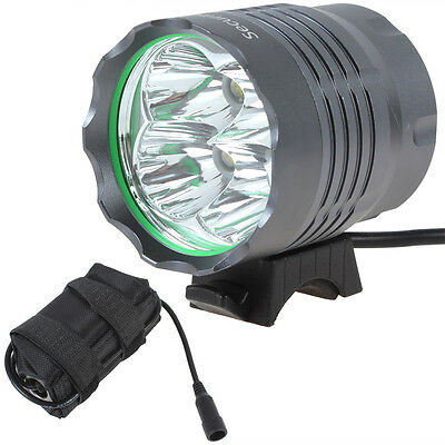 SecurityIng 5000Lm 4X CREE XM-L T6 LED Bicycle Light Torch Headlamp Battery Pack
