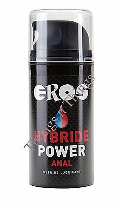 EROS Hybride Power Anal 100ml silicone & water lubricant enhance sex + free lube
