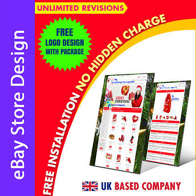 eBay Store Design & eBay Listing Auction Mobile Responsive Templates, Free Setup