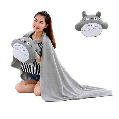 My Neighbor Totoro Plush Doll hand-warmer Pillows Within a 170x100cm blanket