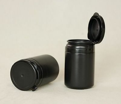 Black Empty plastic bottle Xylitol gum container with pull ring cap 60g 100 pcs