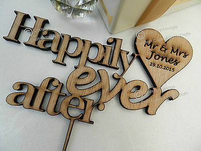 Stunning Personalised Wooden Wedding Cake Toppers. Images,Quotes, Mr & Mrs.