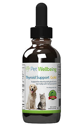 Pet Wellbeing Thyroid Support Gold Cat & Dog Hyperthyroidism Support 2 oz (59ml)