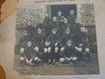 Llandovery College. (Wales UK) Rugby XV.---1929-30