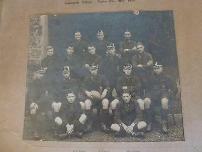 Llandovery College ( Wales. UK. ) Rugby XV.---1928-29