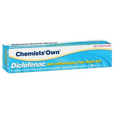 DJP NEW Chemists' Own Diclofenac Anti-Inflammatory Gel 50g Muscle Pain Relief