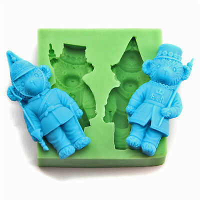 3D Teddy Flexible Soap Molds Silicone Candle Mold Resin Clay DIY Chocolate Cake