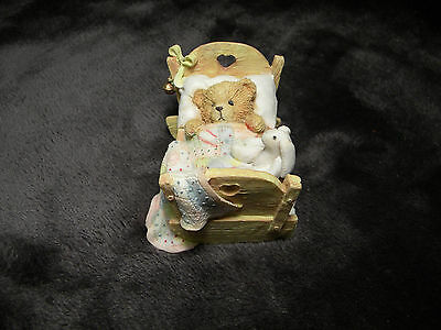 "Cherished Teddies ""Cradled with Love"" Baby Bear Figurine, 911356, Excellent"