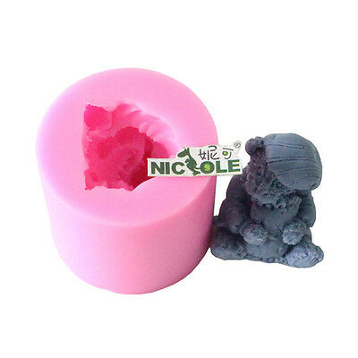 Nicole 3D Bear Silicone Soap Mould Candle Molds Craft Decorating Cake DIY Tools