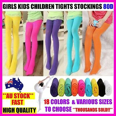 Girls Kids Dance Ballet Tights Stockings Leg Pantyhose Hosiery Opaque 80 - S,m,l