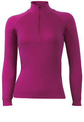 Merino Baselayer/Thermal - 1/4 Zip, Polo Neck L/S Sherpa Top. Sizes XS to XL
