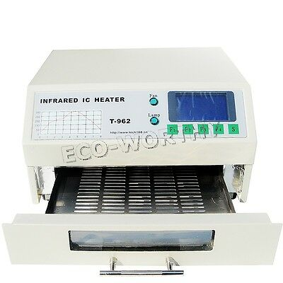 T962 Reflow Oven Windowed Drawer Accurate Temperature SMD BGA Soldering 220V