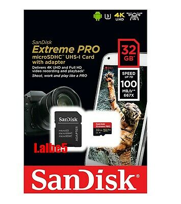 Sandisk Extreme Pro 32GB 32G Micro SD SDHC 95MB/s UHS-1 Class 10 Memory card