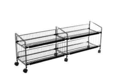 """Double Wide Wire Display Rack 54""""L x 12""""D x 20""""H"""