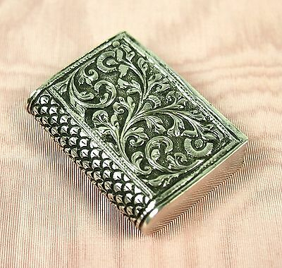 Match Holder . Sterling Silver, Engraved By Hand, Xviii-Xix.