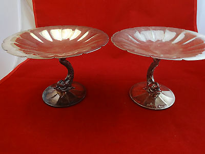 Pair of Pairpoint Sweet Meat Dishes with Dolphins