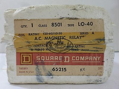 New Surplus Square D 8501 LO-40 AC Magnetic Relay Ser A