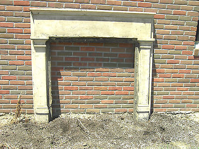 Antique Fireplace Mantel 1800's Heart Pine Vitorian Cream Surround #1