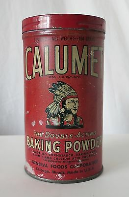 Calumet Baking Powder Vintage Tin, General Foods Corporation, Chicago