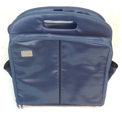 "Crop-In-Style Blue Scrapbook Tote/Organizer w/Shoulder Strap Approx. 19""X20""X6"""
