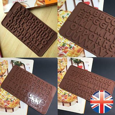 *UK Seller* Silicone Alphabet Letter Chocolate Mould Cake Topper Names Baking