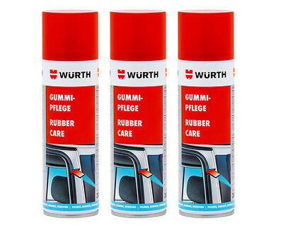 Genuine Wurth Gummi Pflege Rubber Care Aerosol Spray - 3 x 300ml