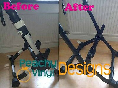 Bugaboo Donkey - Vinyl Chassis Wrapping Kit - BubbleFree Premium Quality Vinyl