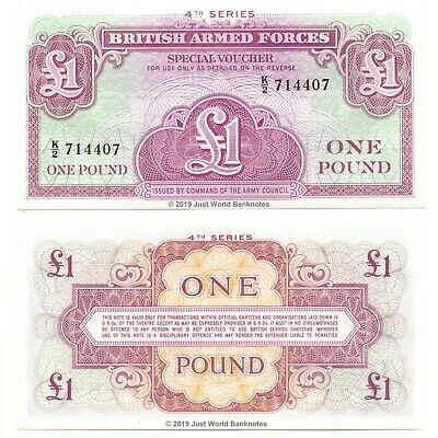 British Armed Forces 1962 1 Pound 4th Series Perfect Mint UNC Banknotes