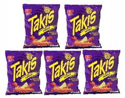 Takis Fuego Rolled Corn Tortilla Xtra Hot Chips 5 Bag Pack