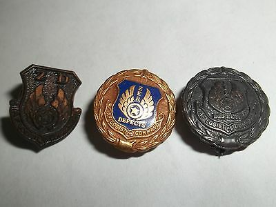 Vintage AF Zero Defects pin Air Force Logistic Command Set of 3