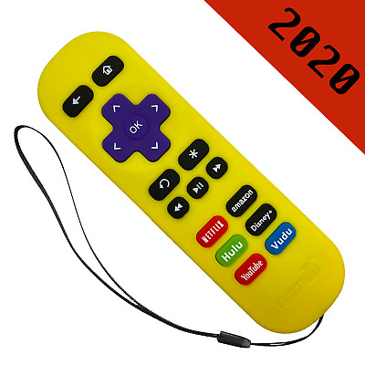 Replacement Remote for ROKU 1/2/3/4 Express/Premiere/Ultra Yellow / 6 Shortcut