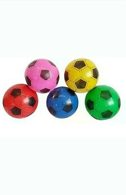 FOOTBALLS PLASTIC PVC flat packed uninflated With 2 Free Pump Wholesale 100pcs