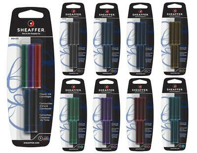 Sheaffer Fountain Pen Ink Cartridges 'Skrip' Refill 5 Pack - ALL COLOURS