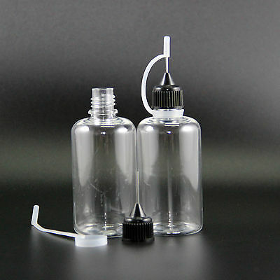 10 Pcs 50Ml Pet Plastic Dropper Bottle Metal Needle Tip Vapor E Juicec
