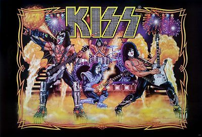"""KISS (1973-Now) Concert POSTER 23""""x34"""" American Heavy Metal Hard Rock Band v2"""