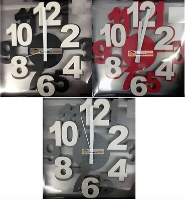 Large 3D Number Wall Clock By Perfect Timing Home Kitchen New