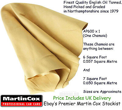 Genuine Chamois Leather Top Quality Natural Cod Oil Tanned Sheepskin 6 sq ft+