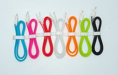 12 X Micro USB Charging FLAT MAGNATIC Cable For Androids Ex- S3 S4 S5 Note 2