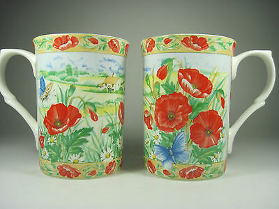 Elizabethan Floral Mugs Bone China Excellent Condition
