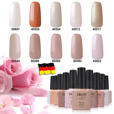 Elite99 UV Nagellack Gel Polish Farbgel Nagelgel Gellack Nude Beige 7.3ml
