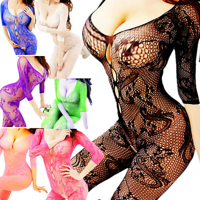 Mesh Big Fishnet Bodystockings Dress Body Stocking Nightwear Lingerie Bodysuit