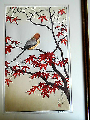Farbige Holzschnitte colored woodcut  Toshi Yoshida 50 x 31 cm Herbst
