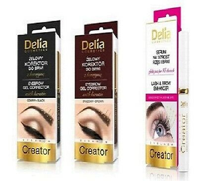 DELIA Lash & Brow ENHANCER CREATOR CONDITIONER , BLACK BROWN