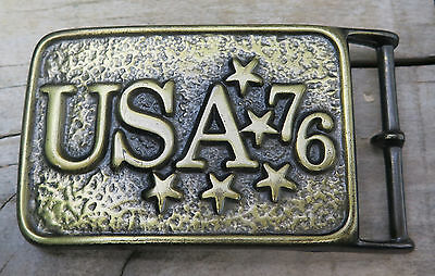 1976 United States Of America USA Bicentennial Patriotic Vintage Belt Buckle