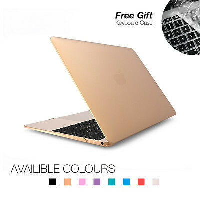 """Frosted Matte Case + Keyboard Cover for Apple Macbook 12"""" Inch Laptop - CRAZY"""