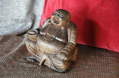 Old Chinese Carved Wooden Buddha… with lots of character...
