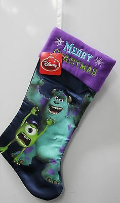 "MONSTERS INC 20"" DISNEY CHRISTMAS STOCKING University Mike Sully Child Pixar NEW"